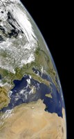 View of the Western Mediterranean with Visible Smoke in the Balkans and Dust from the Sahara desert - various sizes