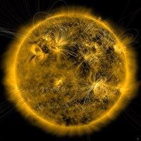 Magnetic Field lines on the Sun - various sizes