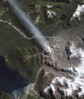 Natural Color view of the Chaiten Volcano Fine Art Print