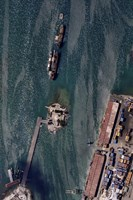 An Aerial view of Port-au-Prince Harbor in Haiti - various sizes