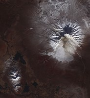 Ash Stains on Russia's Shiveluch Volcano's Slopes - various sizes, FulcrumGallery.com brand