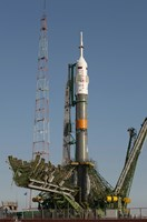 The Soyuz Rocket Shortly after Arrival to the Launch pad at the Baikonur Cosmodrome - various sizes