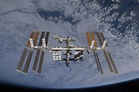 International Space Station set against the background of a cloud covered Earth - various sizes - $47.49
