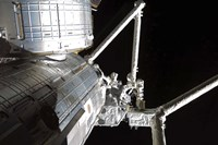 The Robotic Arm of the Japanese Experiment Module assists in installing components on the Japanese Exposed Facility - various sizes, FulcrumGallery.com brand