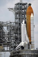 Space Shuttle Endeavour on the Launch pad at Kennedy Space Center - various sizes, FulcrumGallery.com brand