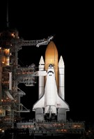 Space shuttle Atlantis Sits Ready on its Launch Pad at Kennedy Space Center, Florida - various sizes, FulcrumGallery.com brand