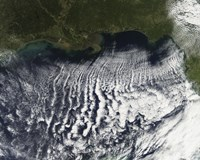 Cloud Streets are Visible Stretching out into the Gulf of Mexico - various sizes