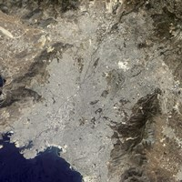 True-Color Satellite View of Central Athens, Greece - various sizes