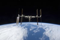 International Space Station backdropped by Earth's Horizon - various sizes - $47.49