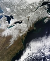 Snow Cover Stretching from Canada Southward to West Virginia - various sizes