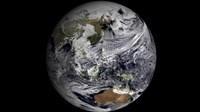 January 2 - Cloud Simulation of the Full Earth, 2009, 2009 - various sizes