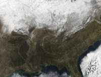 Snow Cover over the United States - various sizes