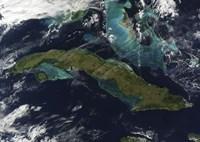 Satellite view of Cuba - various sizes