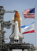 Space Shuttle Endeavour on the Launch Pad - various sizes
