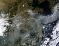 Haze across the North China Plain - various sizes