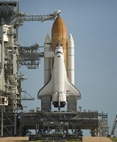 Space Shuttle Discovery Sits Ready on the Launch Pad at Kennedy Space Center Fine Art Print