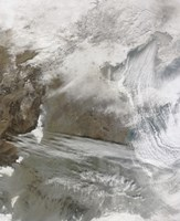 Snow Cover Encircles Bo Hai and Extends to the North and West of that Water Body - various sizes