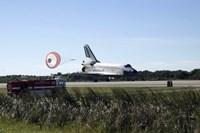 Space Shuttle Atlantis Unfurls its Drag Chute upon Landing at Kennedy Space Center, Florida - various sizes