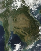Satellite view of Indochina - various sizes