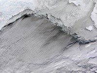 Sea ice and Cloud Streets in the Bering Sea - various sizes