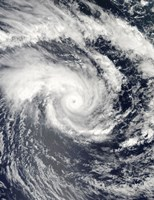 Tropical Cyclone Edzani in the South Indian Ocean - various sizes
