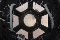 The Sahara Desert Visible through the Windows of the Cupola on the Tranquility Module - various sizes, FulcrumGallery.com brand