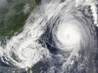 Tropical Storm Parma and Super Typhoon Melor - various sizes