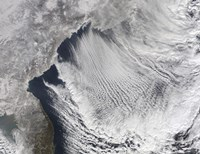 Cloud streets Forming over the Sea of Japan - various sizes