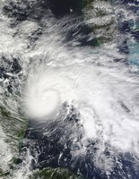 Tropical Storm Ida in the Caribbean Sea - various sizes