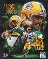 Aaron Rodgers 2014 NFL MVP Composite Fine Art Print