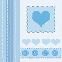 Button Heart I Fine Art Print