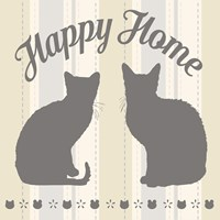 Happy Home Cats Fine Art Print