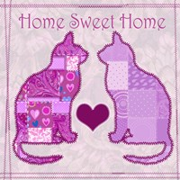 Home Sweet Home Cats III Fine Art Print