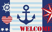 Maritime Stripe Welcome by Andrea Haase - various sizes