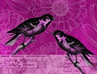 Vintage Pink Birds by Andrea Haase - various sizes