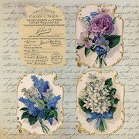 Vintage Flower Labels by Andrea Haase - various sizes