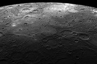 Large Craters on the Planet Mercury Fine Art Print