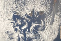 Cloud Vortices in the area of the Canary Islands in the North Atlantic Ocean - various sizes, FulcrumGallery.com brand