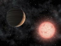 Artist's Concept of the Smallest Star Known to Host a Planet - various sizes