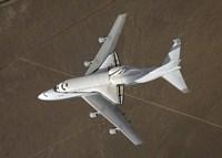 An overhead view of Atlantis Atop a Modified 747 Aircraft - various sizes