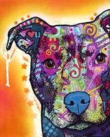 Heart U Pit Bull Fine Art Print