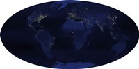 Earth's Human-Generated Nighttime Lights for the Calendar Year 2003 - various sizes