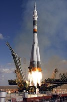 The Soyuz TMA-13 Spacecraft Launches from the Baikonur Cosmodrome in Kazakhstan - various sizes