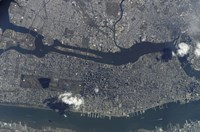 Manhattan Island and its Easily Recognizable Central Park - various sizes