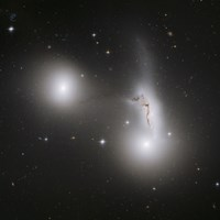Cluster of Interacting Galaxies - various sizes