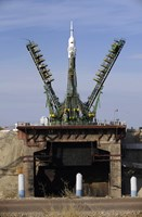 The Soyuz TMA-13 spacecraft Arrives at the Launch Pad at the Baikonur Cosmodrome in Kazakhstan - various sizes