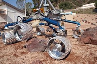 Scarecrow, a Mobility-Testing Model for Mars Science Laboratory - various sizes