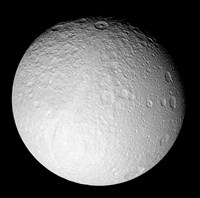 The South Pole of Saturn's Moon Tethys - various sizes