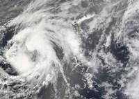 Tropical Storm Josephine - various sizes