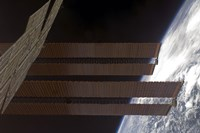 International Space Station's Solar array Panels and Earth's Horizon - various sizes - $46.99